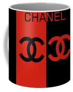 Red And Black Chanel Coffee Mug