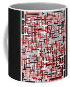 Red Black White Geometric Coffee Mug
