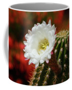 Red Bougainvillea Background For White Argentine Giant Flower Coffee Mug