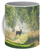 Red Deer In The Forest Coffee Mug