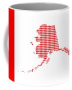 Red Dot Map Of Alaska Coffee Mug
