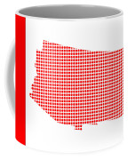 Red Dot Map Of Arizona Coffee Mug