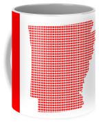 Red Dot Map Of Arkansas Coffee Mug