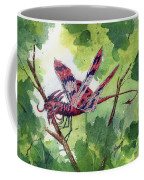 Red Dragonfly Coffee Mug by Sam Sidders