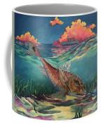 Red Fish Hunt Coffee Mug