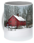 Red New England Colonial In Winter Coffee Mug by Wayne Marshall Chase