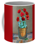 Red Patio Poppies Coffee Mug