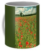 Red Poppies Meadow Coffee Mug