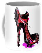 Red Shoe With High Heel Coffee Mug