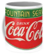 Retro Coke Sign Coffee Mug