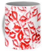 Retro Red Lips Coffee Mug