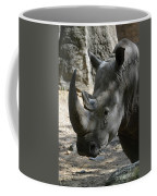 Rhinoceros With Two Horns Up Close And Personal Coffee Mug