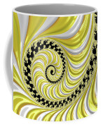 Ribbed Yellow Spiral Coffee Mug