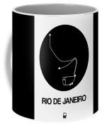 Rio De Janeiro Black Subway Map Coffee Mug