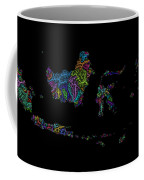 River Basins Of Indonesia In Rainbow Colours Coffee Mug