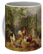 Rooster With Hens And Chicks Coffee Mug