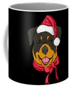 Rotweiler Xmas Hat Dog Pet Lover Christmas Coffee Mug