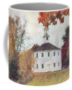 Round Church In Vermont Autumn Coffee Mug by Jeff Folger