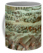 Rows Of Terra Cotta Warriors In Pit 1 Coffee Mug