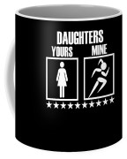 Runner Mom Dad Gift Parent Of Track And Field Daughter Coffee Mug