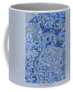 Sacramento Map Retro 5 Coffee Mug