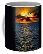 Sailboat Sunburst Coffee Mug