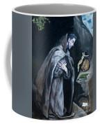Saint Francis Kneeling In Meditation Coffee Mug