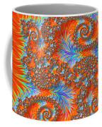 Saint Georges Vanquished Dragon Fractal Abstract Coffee Mug by Rose Santuci-Sofranko