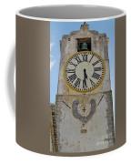 Saint Mary Church Clock Tower In Tavira. Portugal Coffee Mug