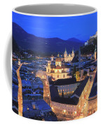 Salzburg At Night Austria  Coffee Mug