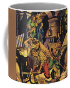 Samuel Pepys Searching For A Hoard Of Money Supposedly Hidden In The Tower Of London Coffee Mug