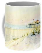 Sand Dunes At Ocean City Beach Maryland Coffee Mug