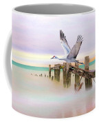 Sandhill Crane And Old Dock Coffee Mug