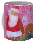 Santa Claus And Guardian Angel - Pintoresco Art By Sylvia Coffee Mug