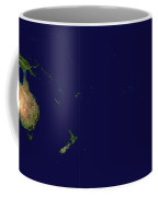 Satellite Image Of Oceania, Australasia And South-eastern Asia Coffee Mug by Celestial Images