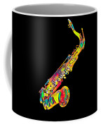 Saxophone Music Instrument Gift For Musician Color Designed Coffee Mug