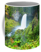 Scenic View Of Waterfall, Portland Coffee Mug