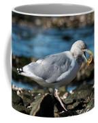 Seagull Carrying Snail Coffee Mug