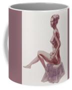 Seated Nude Woman Watercolor Coffee Mug