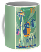 Seattle Poster- Space Needle Vintage Style Coffee Mug