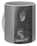 Self-portrait With A Scull Coffee Mug