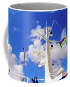 Semi-large Ship's Radar Tower And Headlights. Coffee Mug
