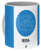 Seoul Blue Subway Map Coffee Mug