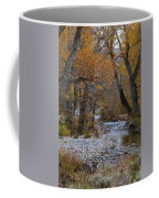 Serene Stream In Autumn Coffee Mug