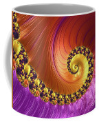 Shiny Purple And Gold Spiral Coffee Mug