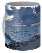 Shoreline Rain Clouds Coffee Mug