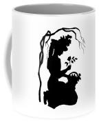 Silhouette Woman Picking Roses Coffee Mug by Rose Santuci-Sofranko