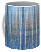 Silver Blue Plaid Abstract #4 Coffee Mug by Patti Deters