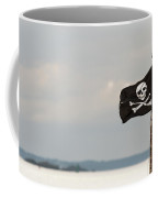 Small Jolly Roger On A Wooden Pole Coffee Mug