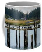 Small Village Along The Columbia River Coffee Mug by Mae Wertz